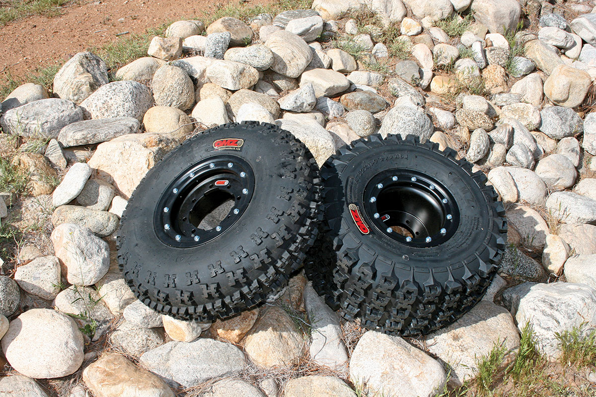 The wheels and tires ship separately; however, they are easy to mount. Make sure to tighten the beadlock screws to 8 foot-pounds with a torque wrench to ensure the bolts don't come loose.