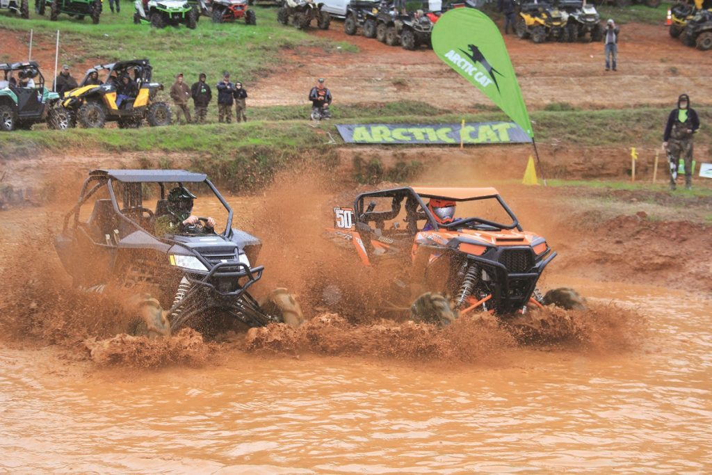 UTVs competed in the Mudda-Cross event, and they put on a good show for the fans.