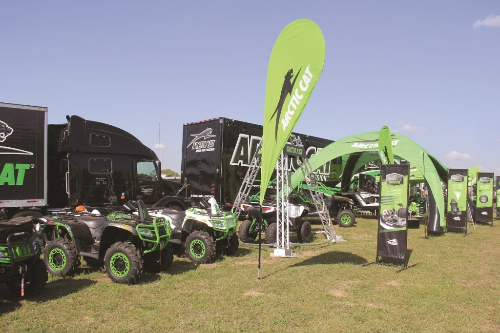 Arctic Cat sponsored many of the events at the High Lifter Mud Nationals, like the poker run and Mudda-Cross race.