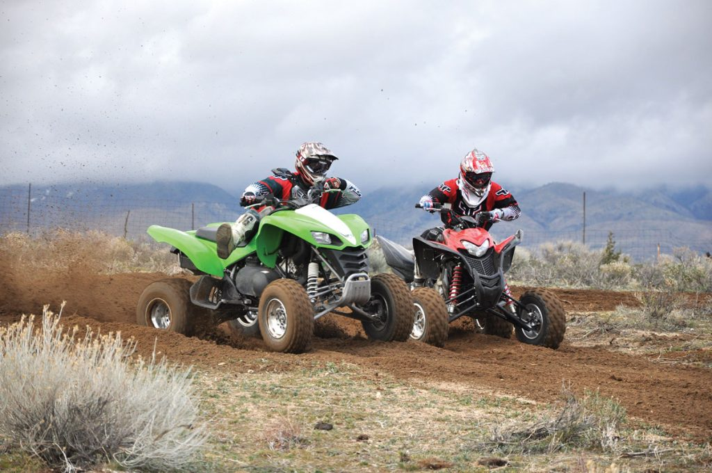 Honda's 700XX and Kawasaki's KFX700 are fun-to-ride Open class ATVs that have distinct personalities and aim at different types of riders.