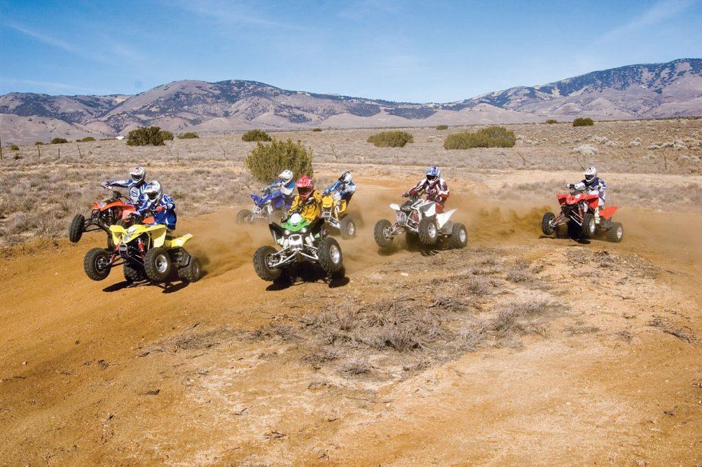 dirt wheels magazine | the most epic 450 shootout! 7 sport quads