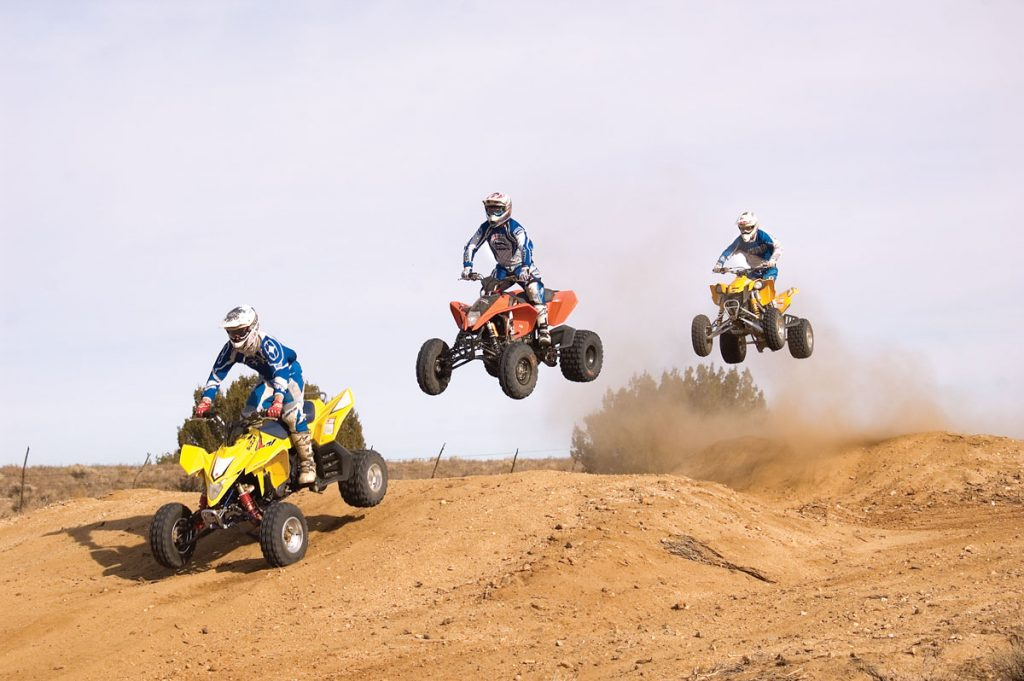 Our test riders all agreed that the KTM, Can-Am and Suzuki felt the most comfortable in the air. The KTM was the most comfortable everywhere. Our only complaint was that it had a stiff thumb throttle.