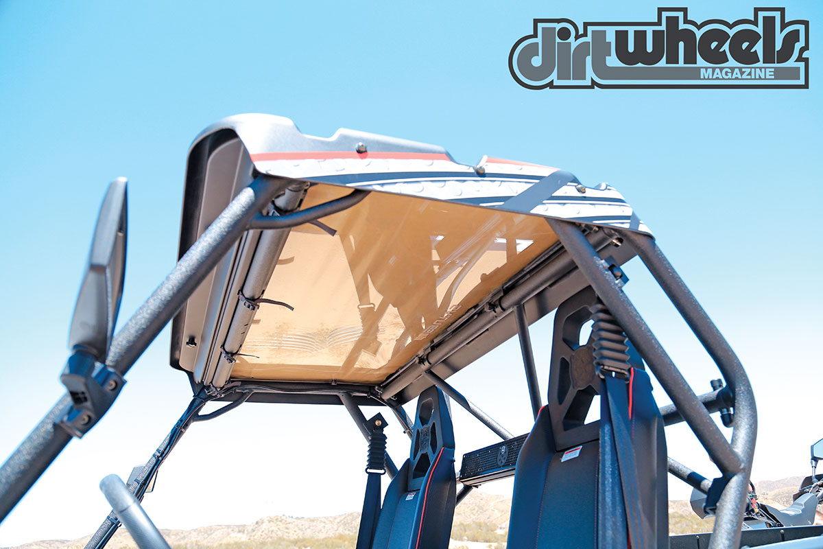 A trick slide-away windshield is unique to the UTV world. It clamps down in minutes without the use of any tools.