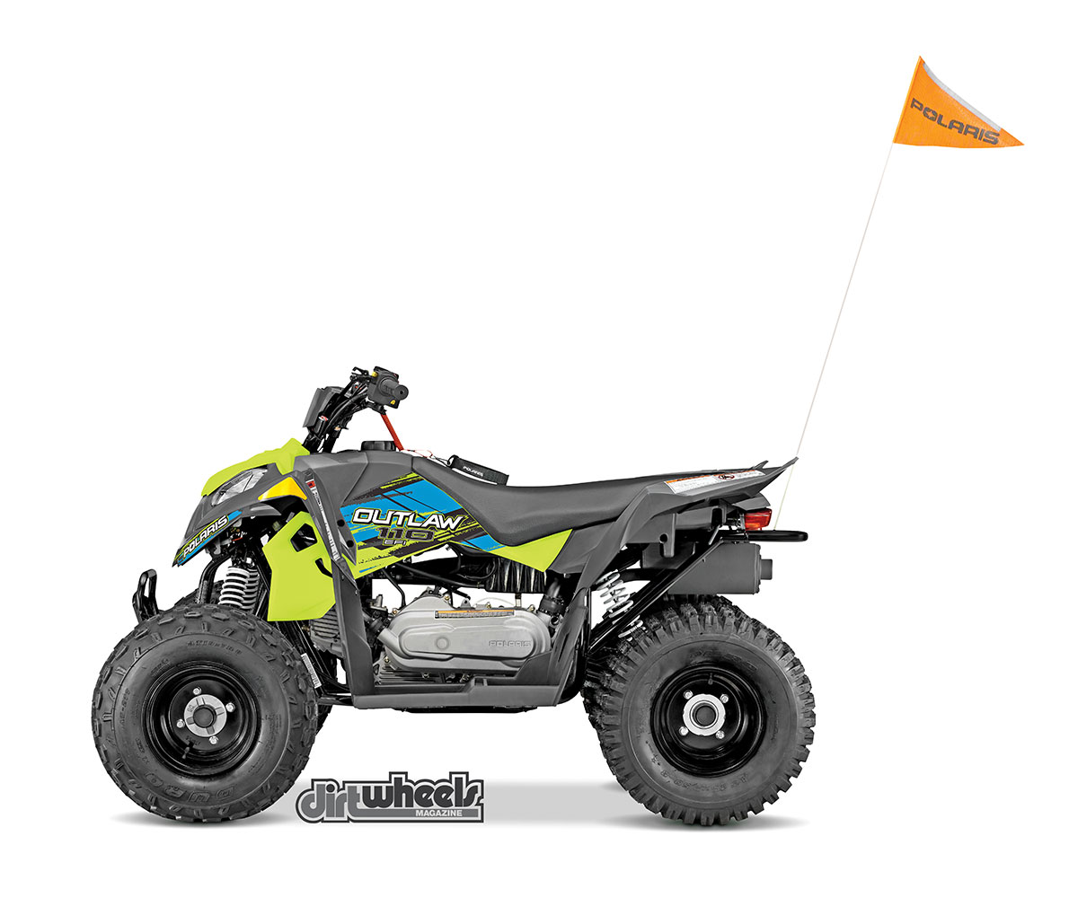 The $3099 EFI Outlaw 110 is a great machine for riders 10 years old and up. It has a speed limiter and new Lime Squeeze and Pink Power color schemes. It's fully automatic with forward, neutral and reverse.