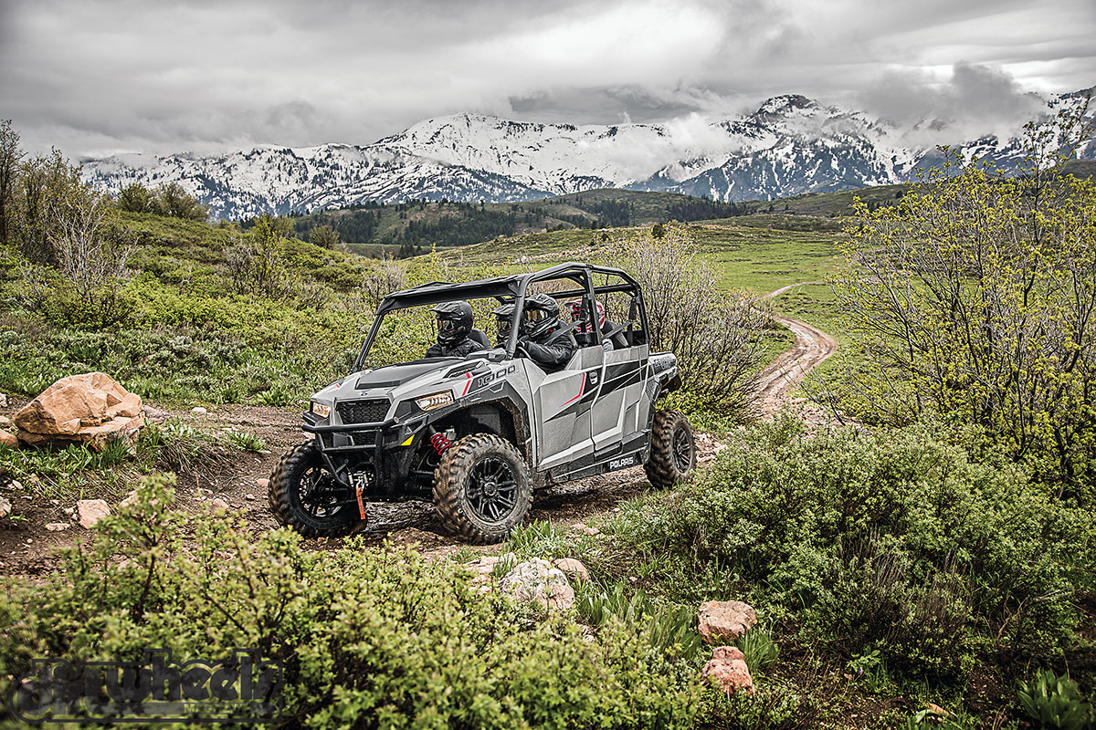 The General 4 1000 EPS is another new model for 2017. It offers the same features of the two-seat General 1000 EPS, but with more room to carry additional riders. It comes standard with a 4500-pound Polaris HD winch, front bumper and GBC Dirt Commander eight-ply tires. It retails for $20,999.