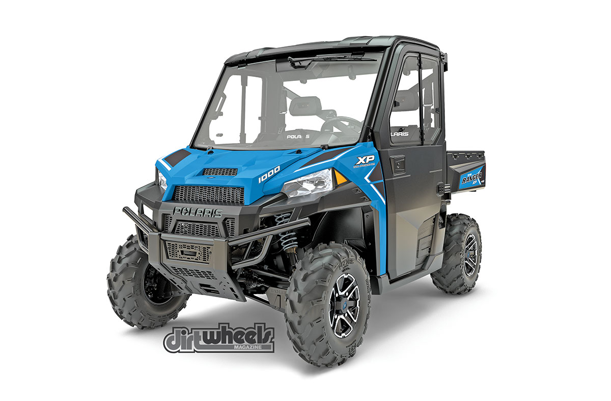 The Ranger HVAC XP 1000 EPS model is all new for 2017. It's the first gas-powered UTV with an air-conditioning system. It also features a fully enclosed cab, a heater, three-mode throttle control, windshield wiper, dome light and a rear-view mirror. This model retails for $23,699.