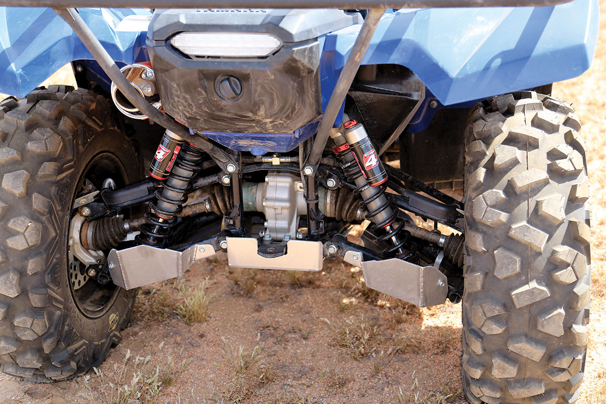 The Stage 4 Elka suspension we mounted on the Yamaha gave the machine a much more plush ride that helped a lot with riding over rough terrain at higher speeds.