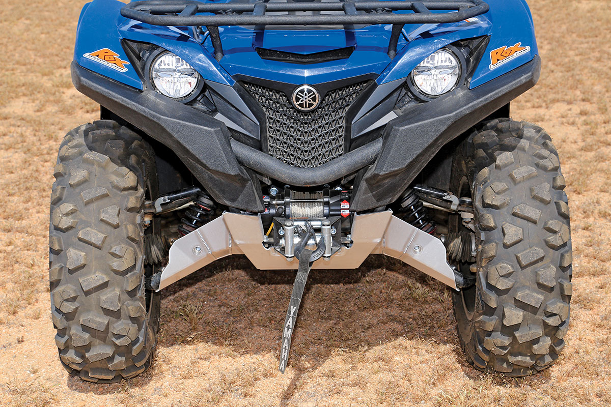 Through Yamaha's accessory shop you can get a 2500-pound Warn winch and mounting system for the Grizzly that includes a handlebar-mounted switch.
