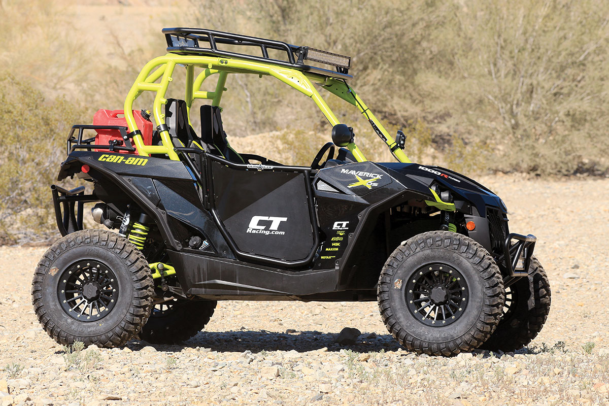 While we would have the liked the alternate white/silver/blue color scheme, the Maverick X RS Turbo 1000R is a fine and purposeful-looking machine. The additions only make the car look more drive-ready.