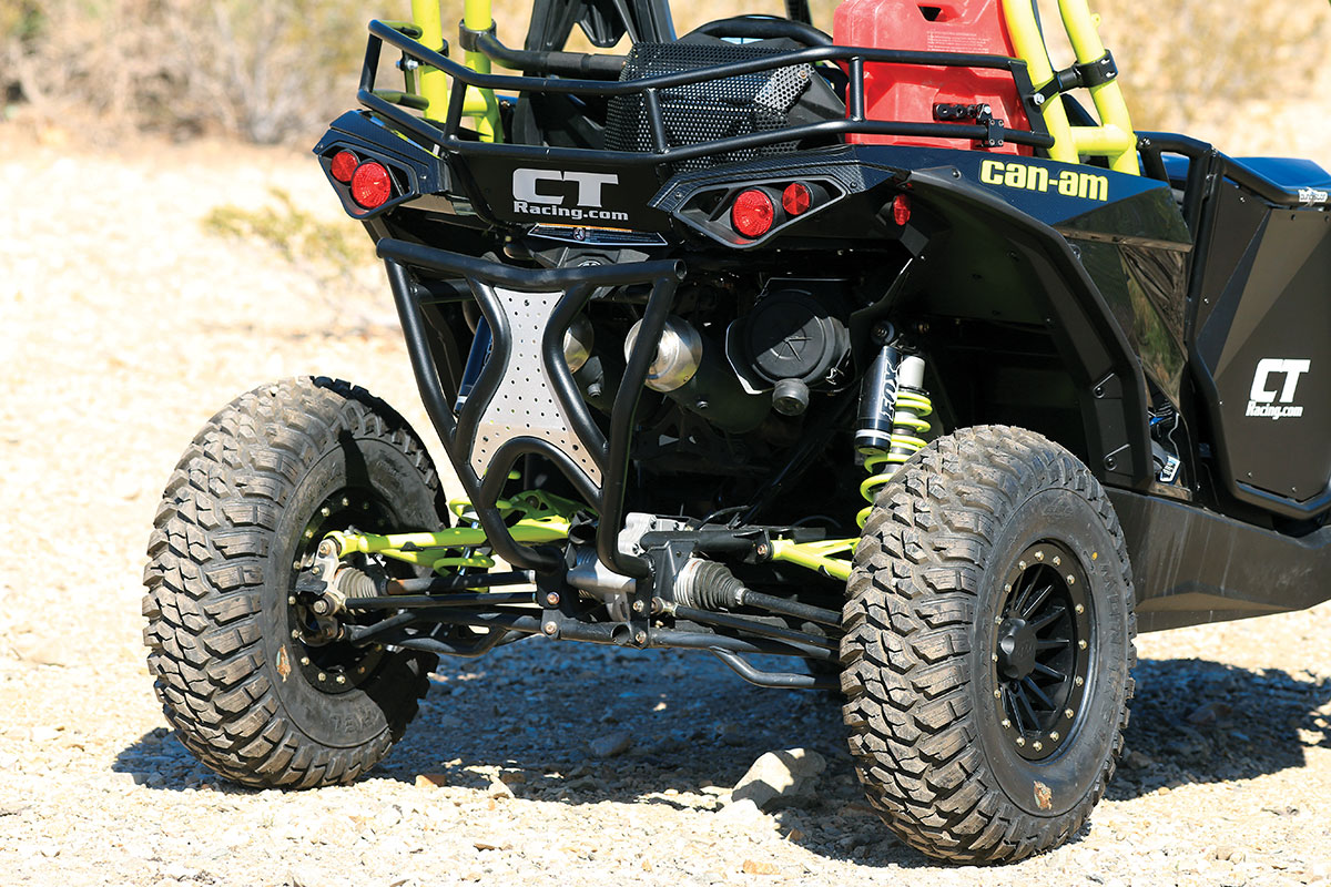 From this rear angle you can see how much the bed rack aids cargo capacity for & Dirt Wheels Magazine | PROJECT MACHINE: BLINGSTAR CAN-AM MAVERICK ... Aboutintivar.Com