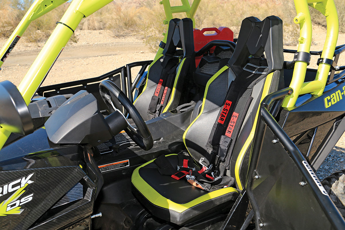 These S Star harnesses from CT Racing are just $101.95 a set, but they make the driver and passenger feel much more secure while driving. The harnesses required a mounting bar from Blingstar.