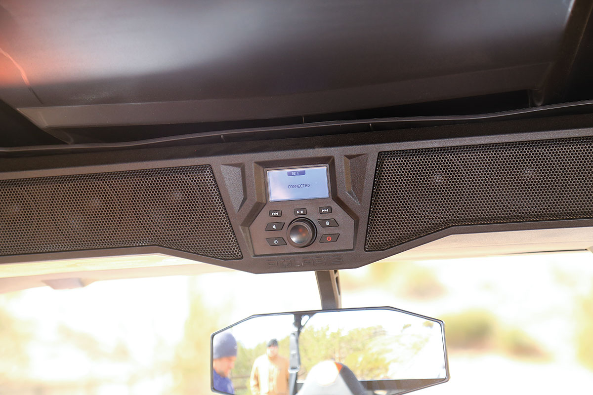Another benefit of the Deluxe General is this six-speaker sound system.