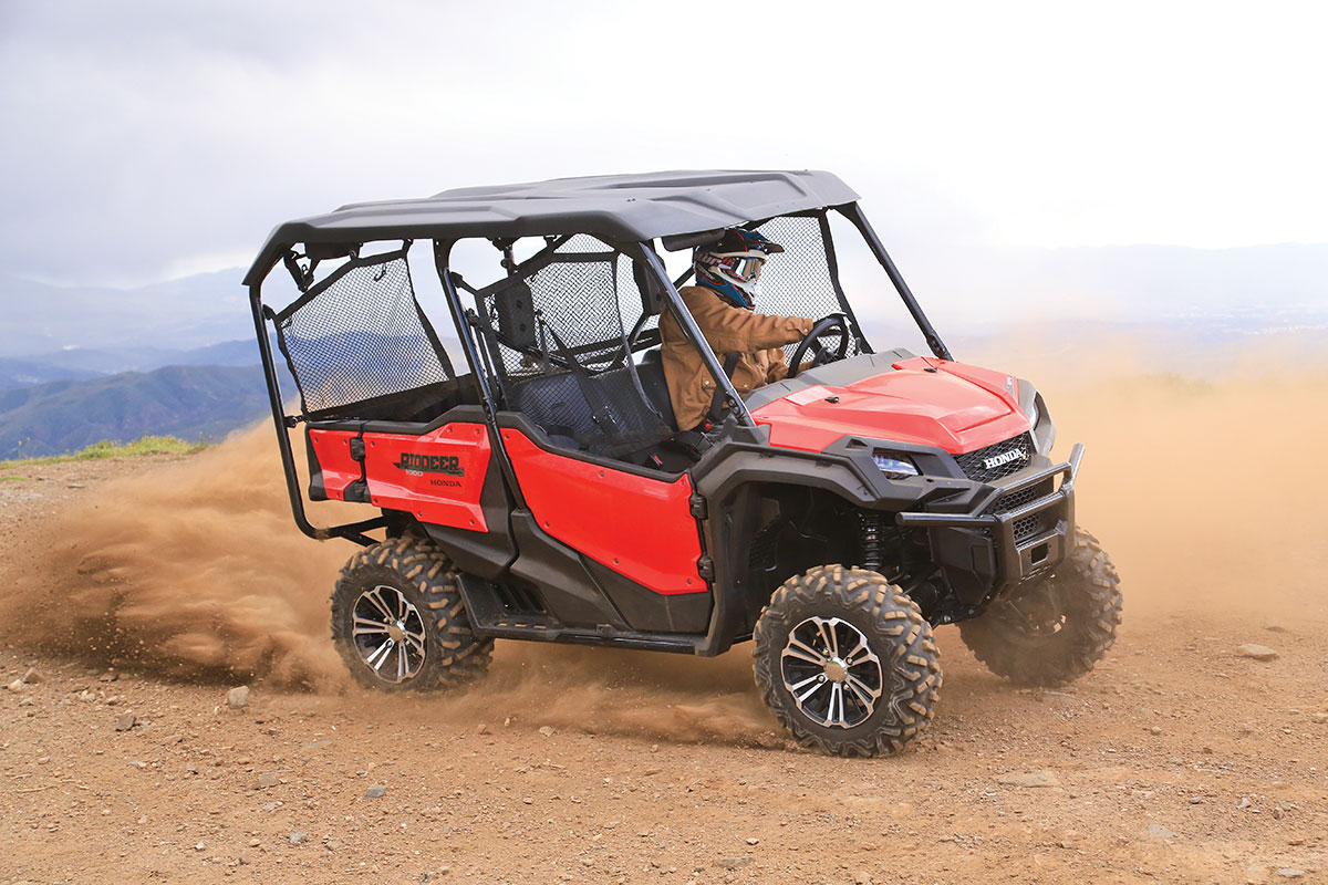 The Pioneer 1000 is fine driving aggressively, but sliding turns is not its favorite pastime.