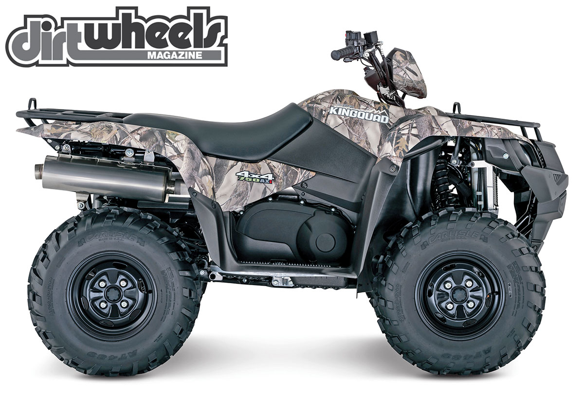 The whole KingQuad lineup is offered in a camo option. The scheme is a True Timber XD3 Camo.