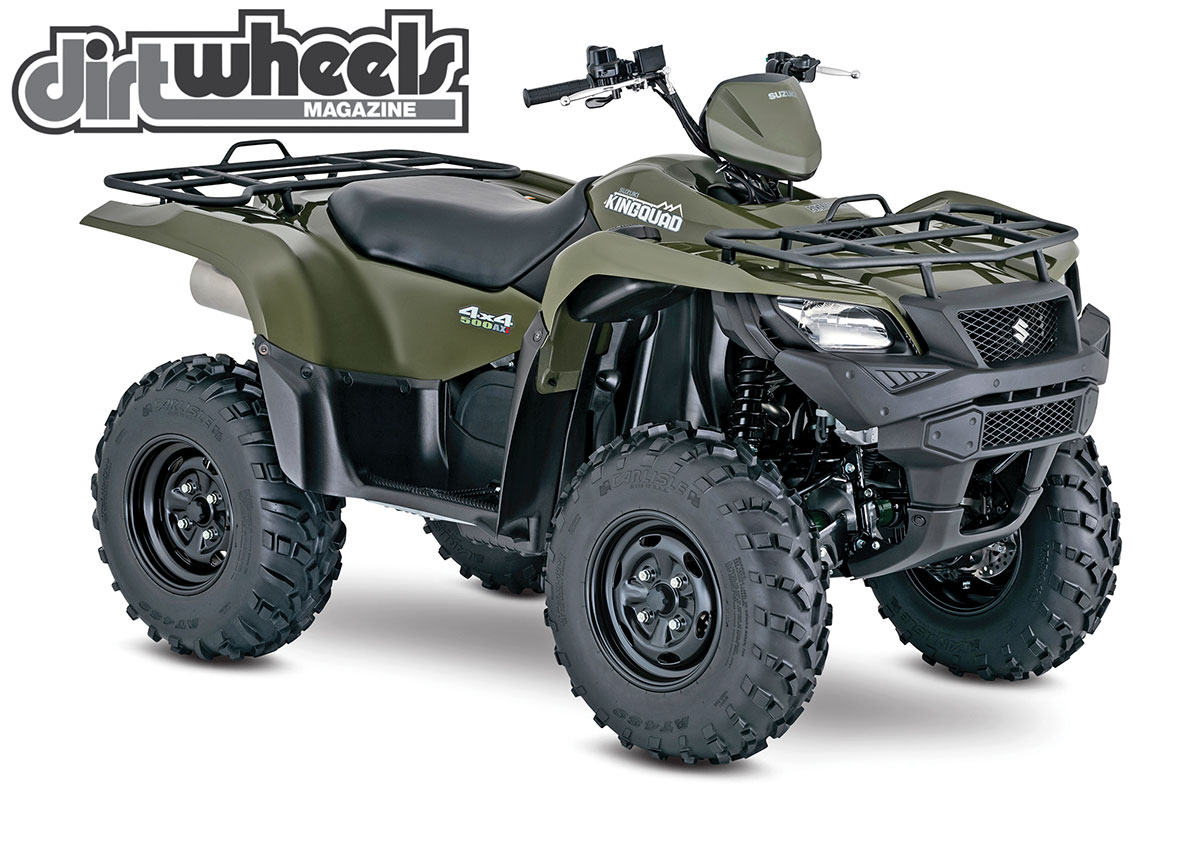 The KingQuad 500AXi comes in red or green for the $7399 base model. Power steering models start at $8299.