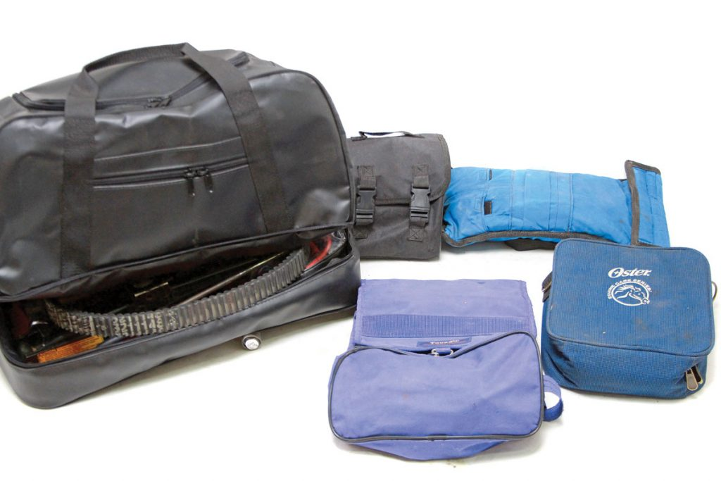 The various tools are not simply loose in the bag. Just as we wanted the individual tools captured, we wanted groups of tools and parts kept together. This method saves wear and tear on the main Dirt-Bagz bag.