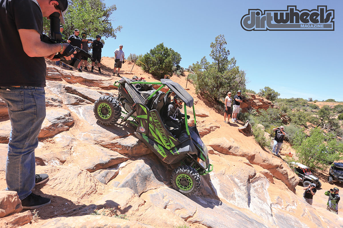 With a wheelbase that is long for the class and great suspension articulation, the Arctic Cat Wildcat X Limited is an accomplished and secure rock crawler.