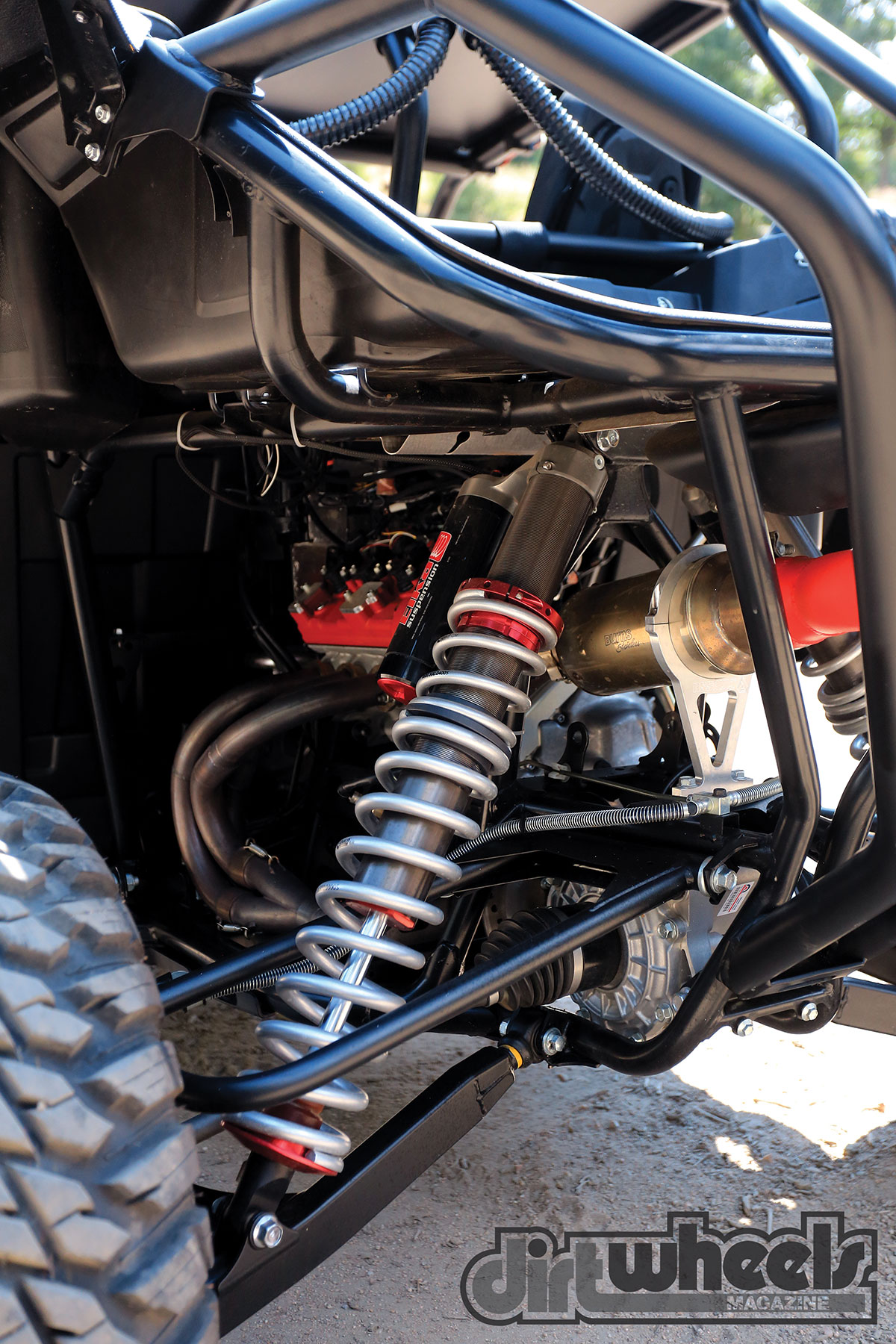 Elka Stage 5 shocks replaced the stock ones to provide a better ride in all types of terrain. They soak up slow-speed chop far better than the stockers.