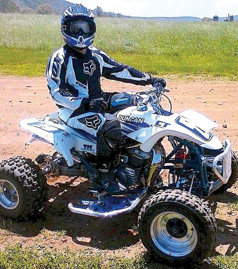Eric Mann's Yamaha Blaster now has a CT Racing 240cc kit, along with many other trick parts.