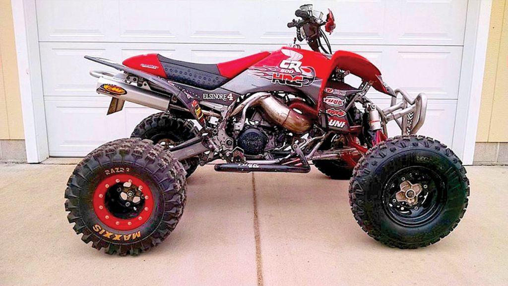 Randy Petterson put a Honda CR500 two-stroke motor in a Yamaha YFZ450 frame.