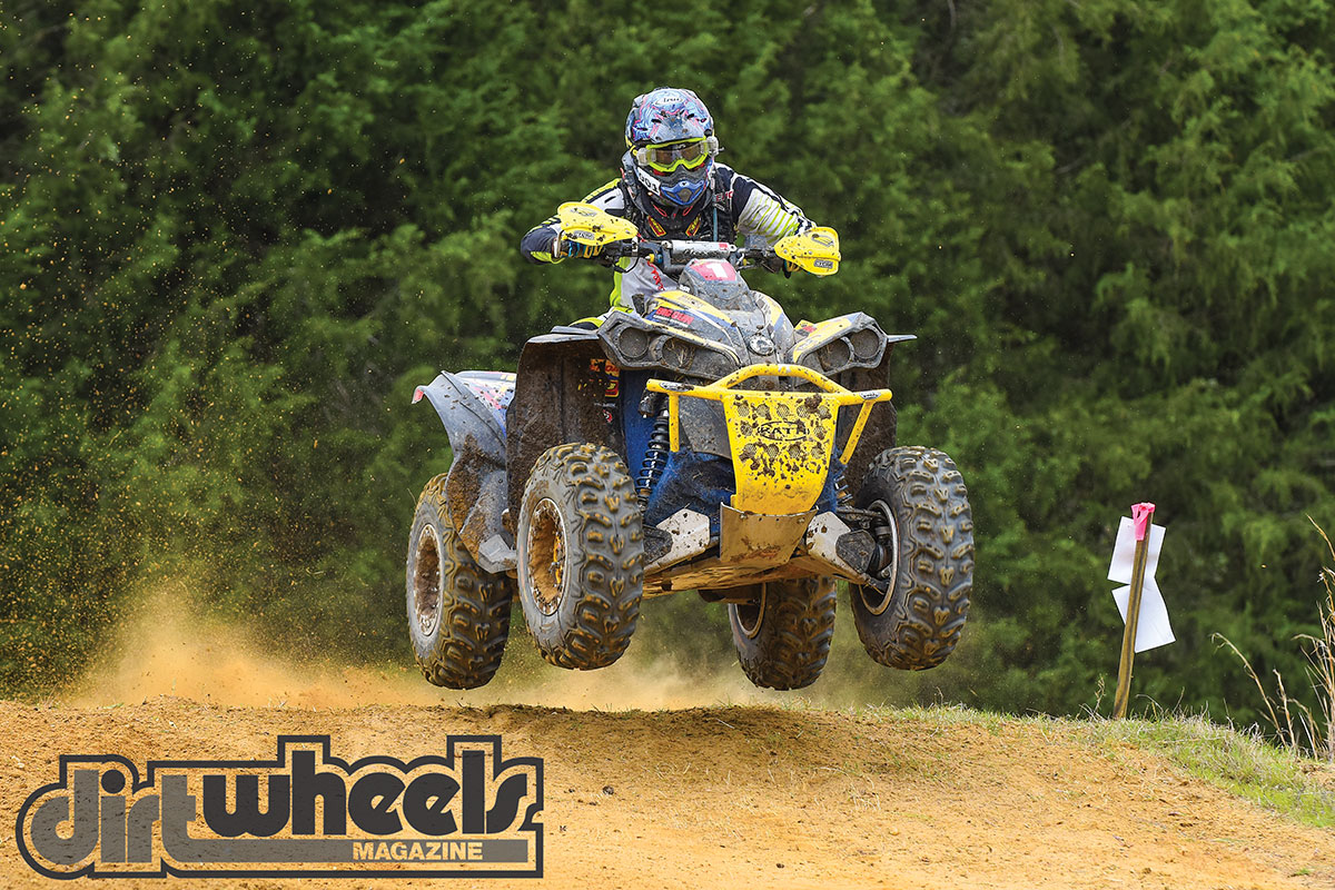 Even with the Renegade having an all-up weight over 700 pounds, Bryan can get all four tires off the ground easily.