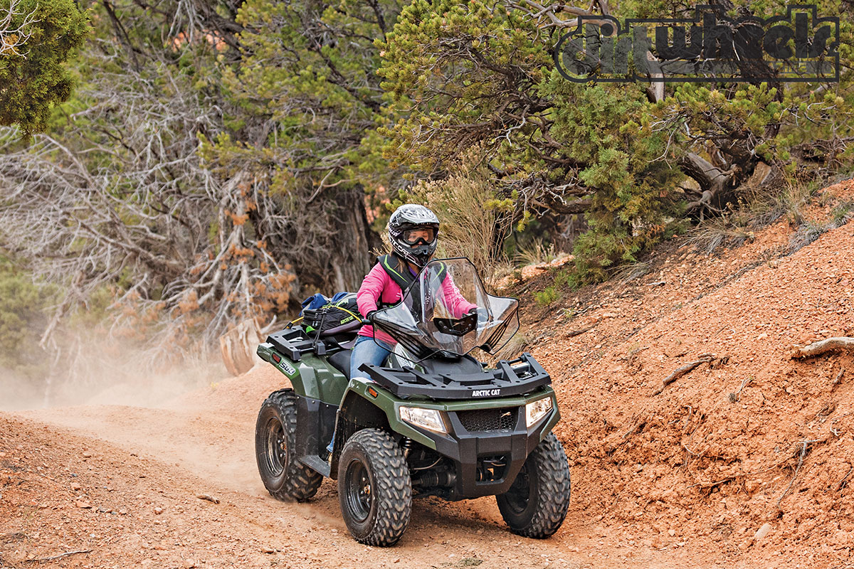 If you need a nimble 4x4, the Alterra 500 should fit with a 48-inch wheelbase (4 inches shorter than the 700). It has a liquid-cooled, single-cylinder engine and impact-resistant racks and bodywork.