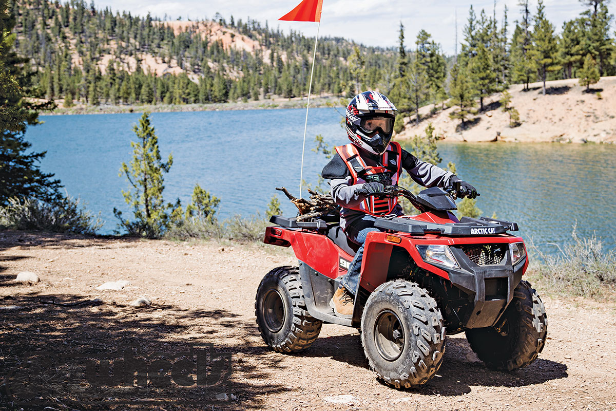 With a 4x4 tough-guy look, the 2WD Alterra 90 joins the DVX90 in the Arctic Cat lineup. It's for youth riders over 12.