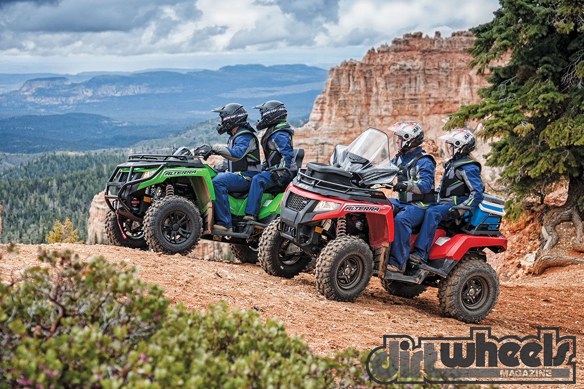 """While the TRV 500 and 750 have liquid-cooled single-cylinder engines, the 1000 has a 1000cc-class V-twin. It shares that motor with the Prowler UTV, but it weighs 500 pounds less! Can you say """"power""""?"""
