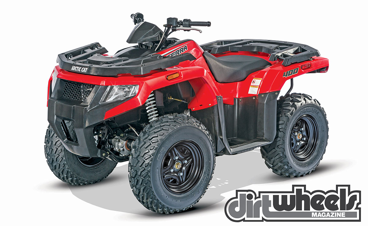 If you are looking for a basic, tough 4x4, the air-cooled Alterra 400 should fit the bill. Choose red or green.