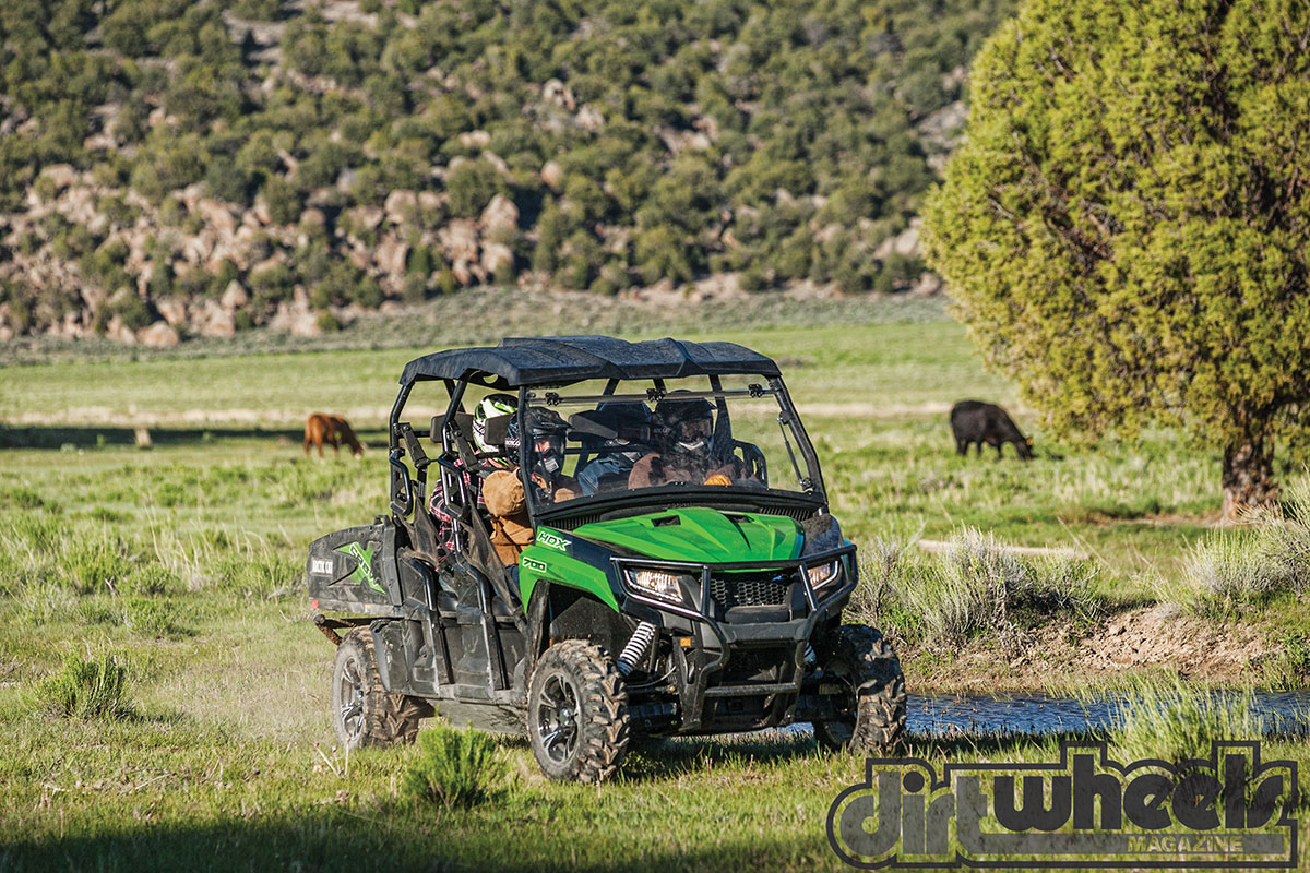It seems crazy not to go for the HDX 700 XT Crew. It has everything the three-seat HDX 700 has, but for $1000 more, it carries six people with a smooth ride thanks to 31 additional inches of wheelbase.