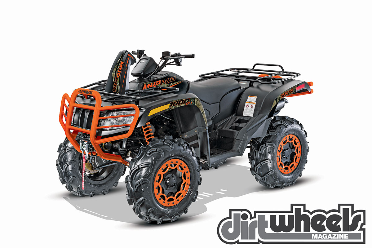 To help with deep mud, the MudPro 1000 shares the 58-inch wheelbase with the two-up TRV. It also has 28-inch tires on beadlock rims rather than the 25-inch tires on the TRV.
