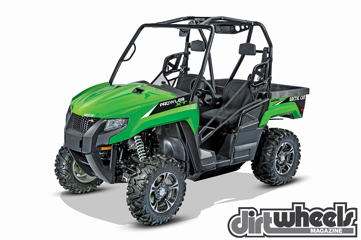 Arctic Cat's Prowler 1000 XT EPS is the most powerful of the sport-utility UTVs it offers. The V-twin engine has ample power and a proven record. The machine is very well equipped.