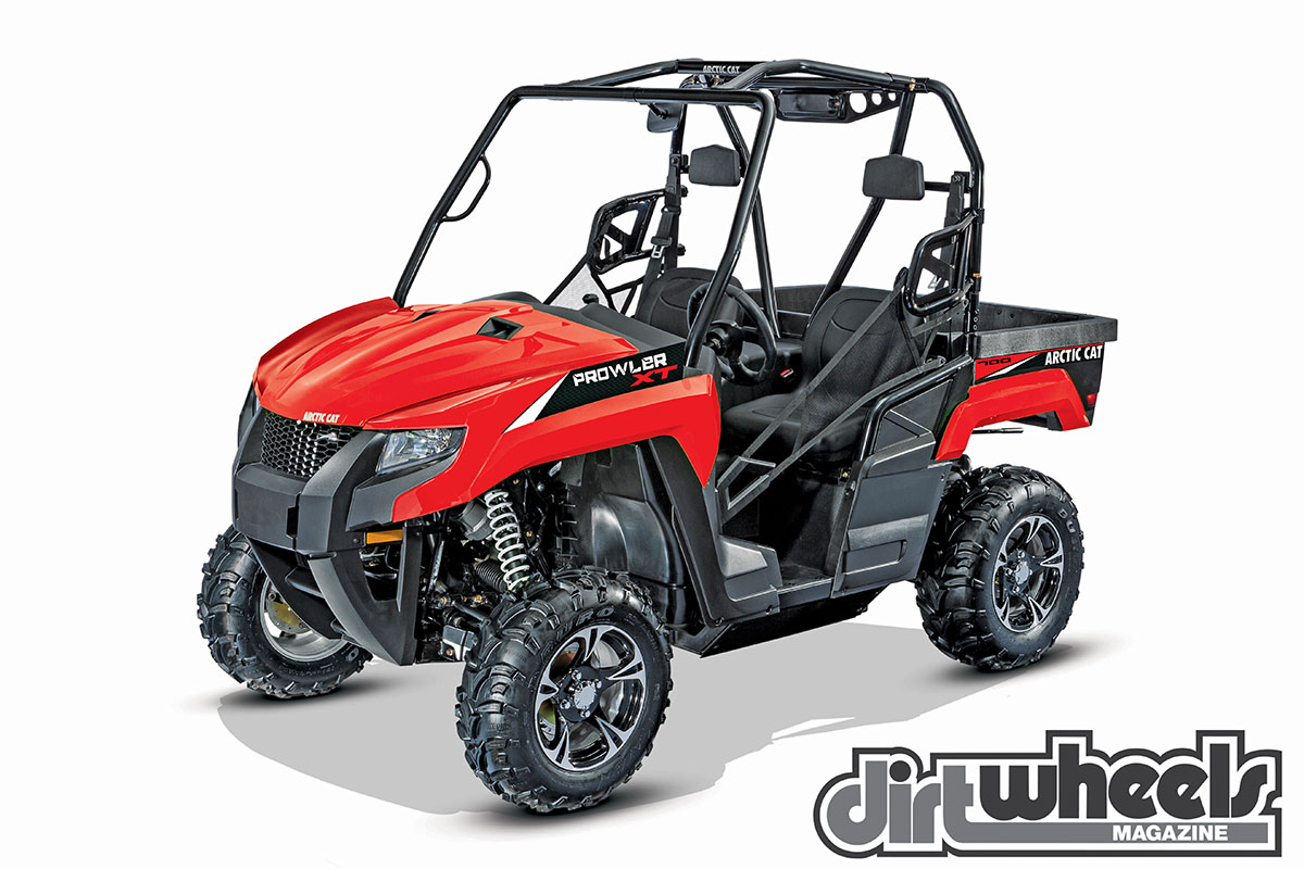 The Prowler 700 XT EPS has a bigger engine than the 500, it is 3 inches longer and it is over 4 inches wider. Plus, there are cast wheels and a jump from 7.5 to 10.0 inches of wheel travel.