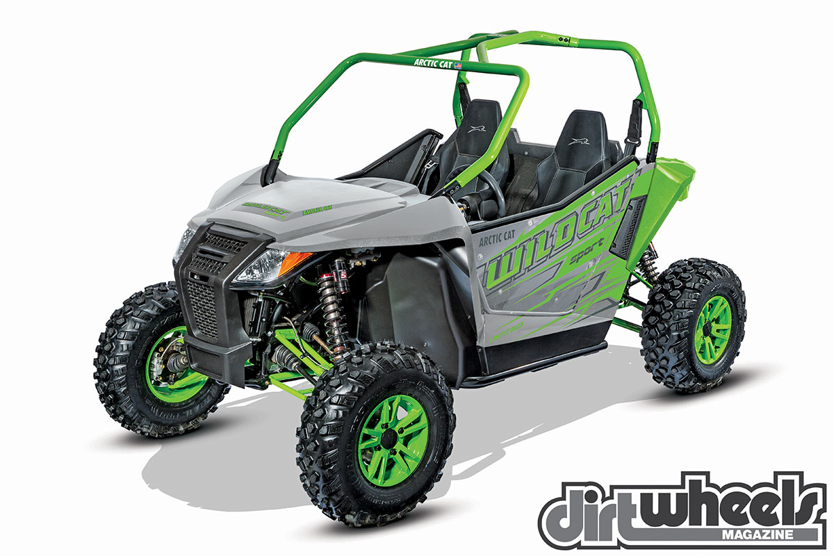 The 60-inch Wildcat Sport has roughly 2 inches more suspension travel, and it weighs under 1100 pounds, so it lives up to the name. It comes in XT EPS and Limited EPS trims.