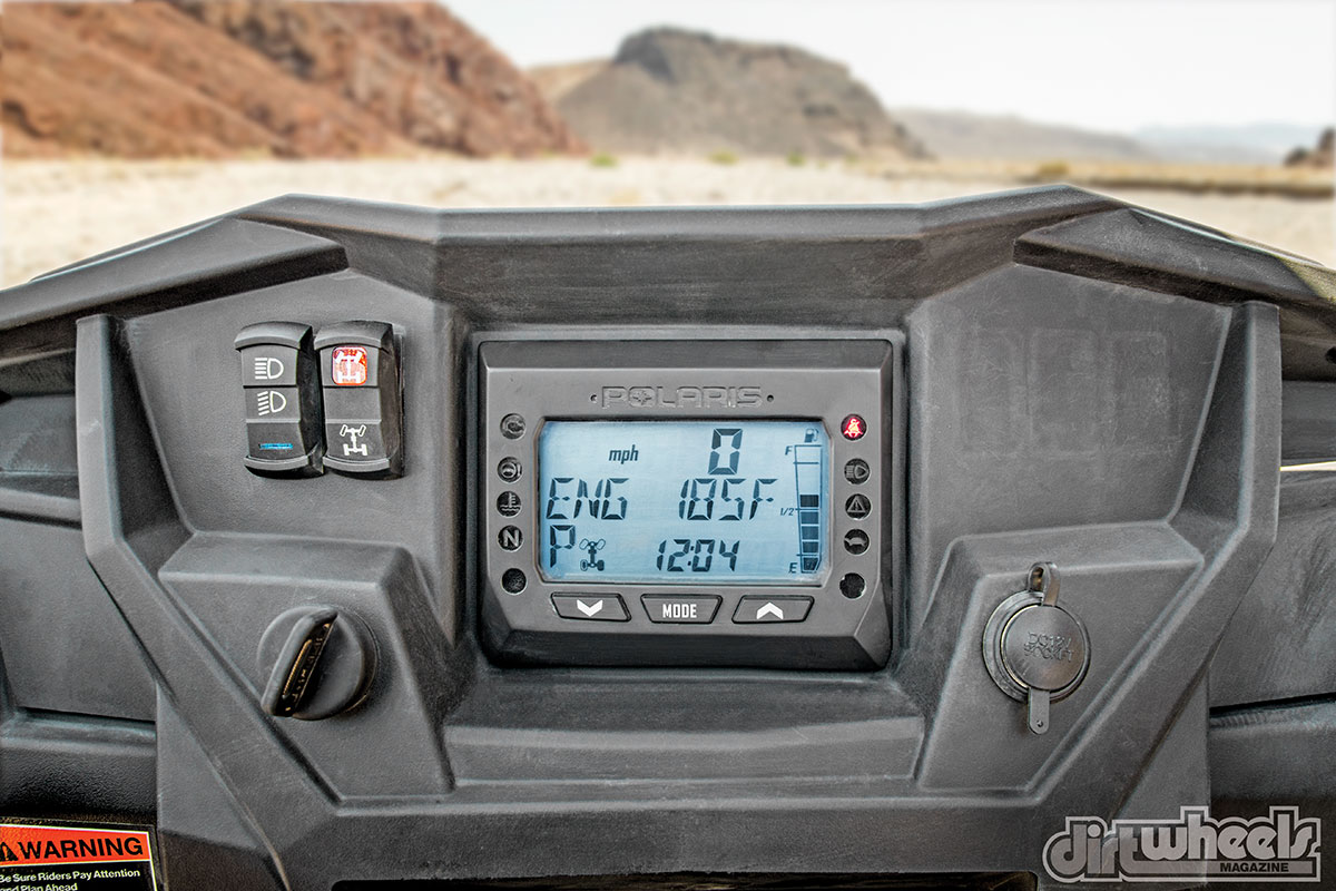 Polaris has kept the Turbo dash uncluttered, but the dash display conveys a lot of important information in a format that works.