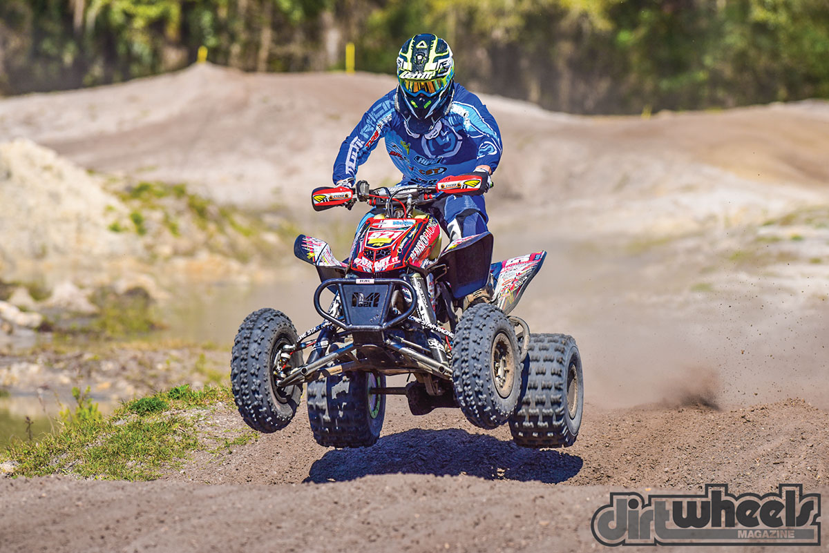 The Baldwin Motorsports powerplant created huge power. In fact, it's one of the most powerful sport quads we've ridden, and its Wiseco piston is a stock size for 449cc!