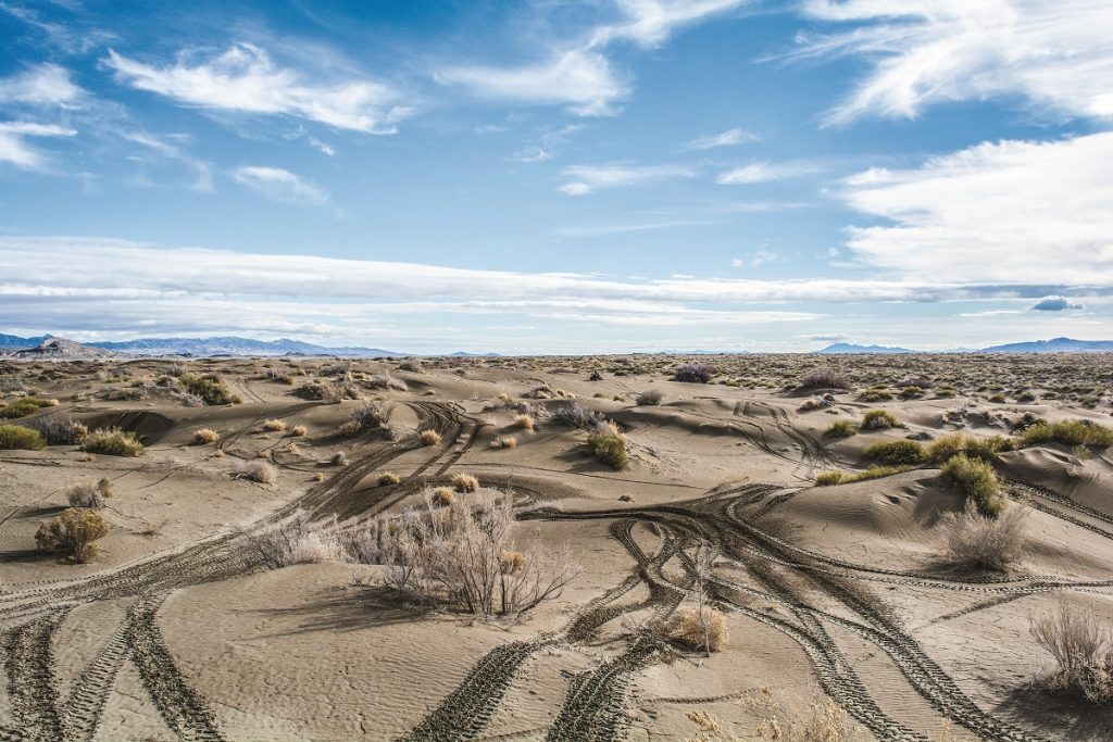 The Knolls OHV area is 80 miles west of Salt Lake City and offers great riding. The terrain includes sand, hardpack, rocks and even salt flats where you can test your speed.