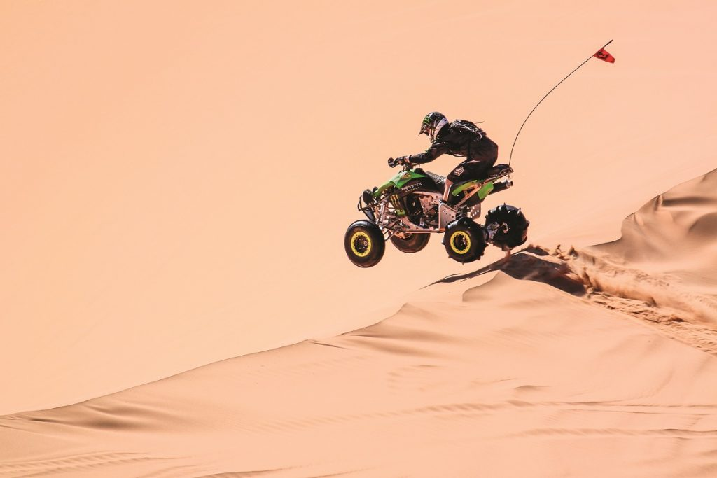 Little Sahara in Jericho, Utah, is an awesome place to have a dune session. It includes 60,000 acres of large sand dunes that are up to 700 feet tall. Located at Little Sahara is Sand Mountain, which is frequently visited by the fastest drag racers in the country.