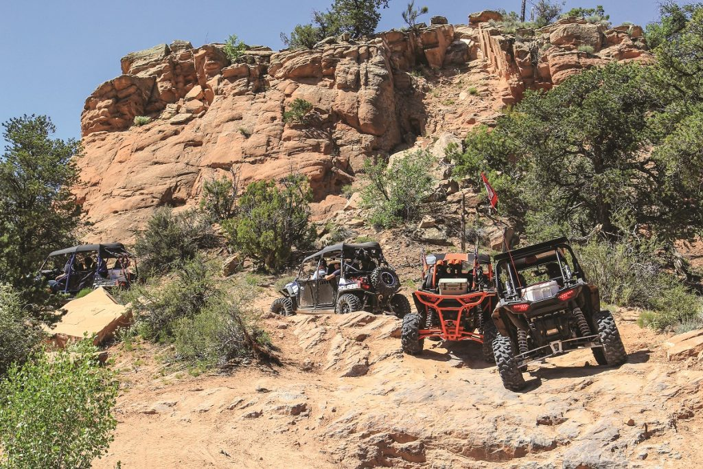 Moab is world famous for rock crawlers and daredevils. It's located 230 miles southeast of Salt Lake City, Utah. The technical slick-rock trails are worth checking out once in your lifetime.