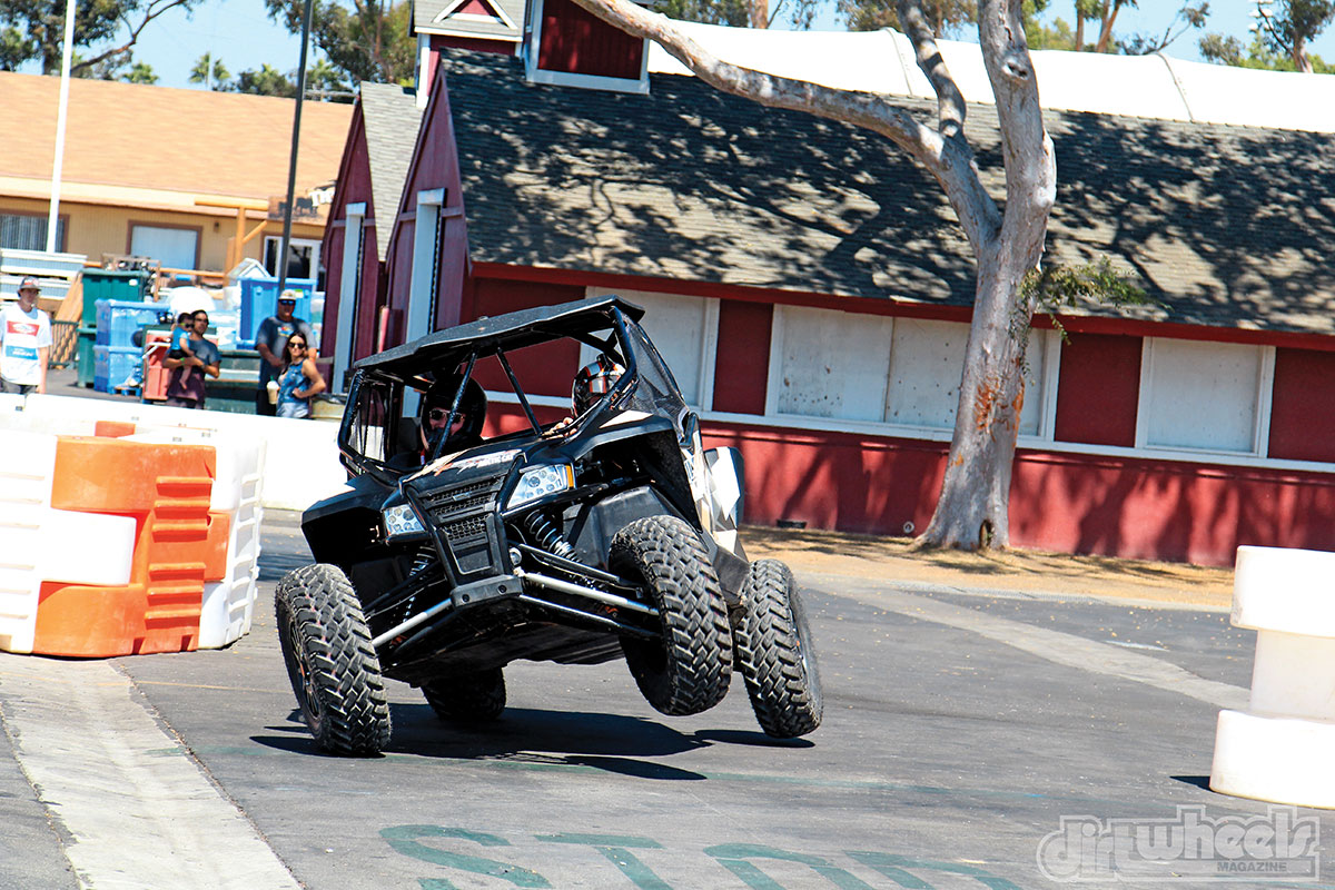 Professional stadium super truck and Arctic Cat driver Sheldon Creed showed how well the RG Pro suspension handles corners at the 2016 Sand Sports Super Show.