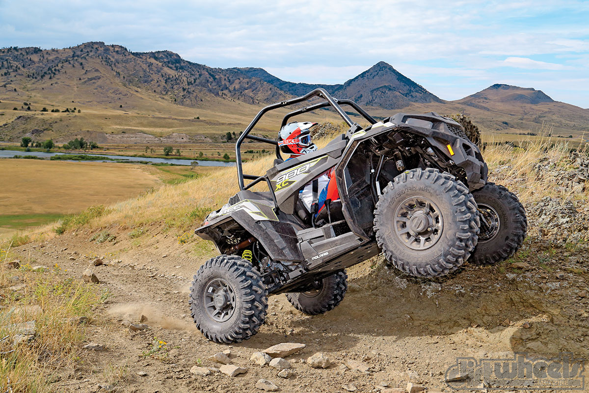 When you stab the throttle from a standing start, the Ace 900 XC leaps forward. If the front wheels kick off something, the front will jump into a full wheelie.