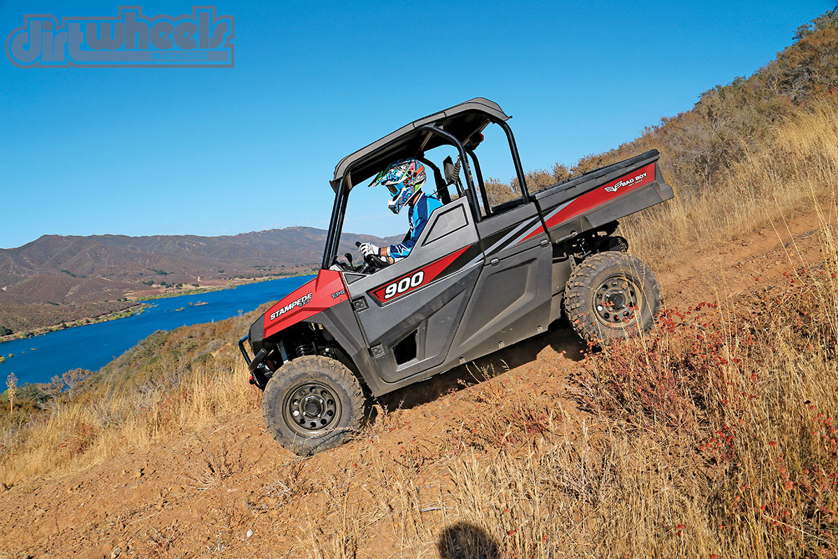 The Stampede has plenty of controllable engine braking. In fact, we generally selected high range for technical descents to smooth out the deceleration inputs.