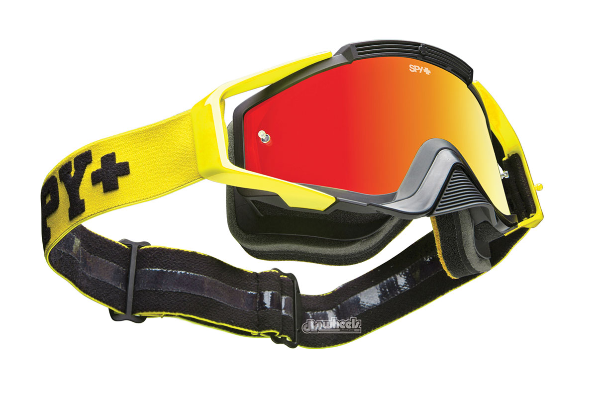 You can get the Spy Omen goggle in 10 different color options to help match your gear, and the goggle has built-in tear-off posts.