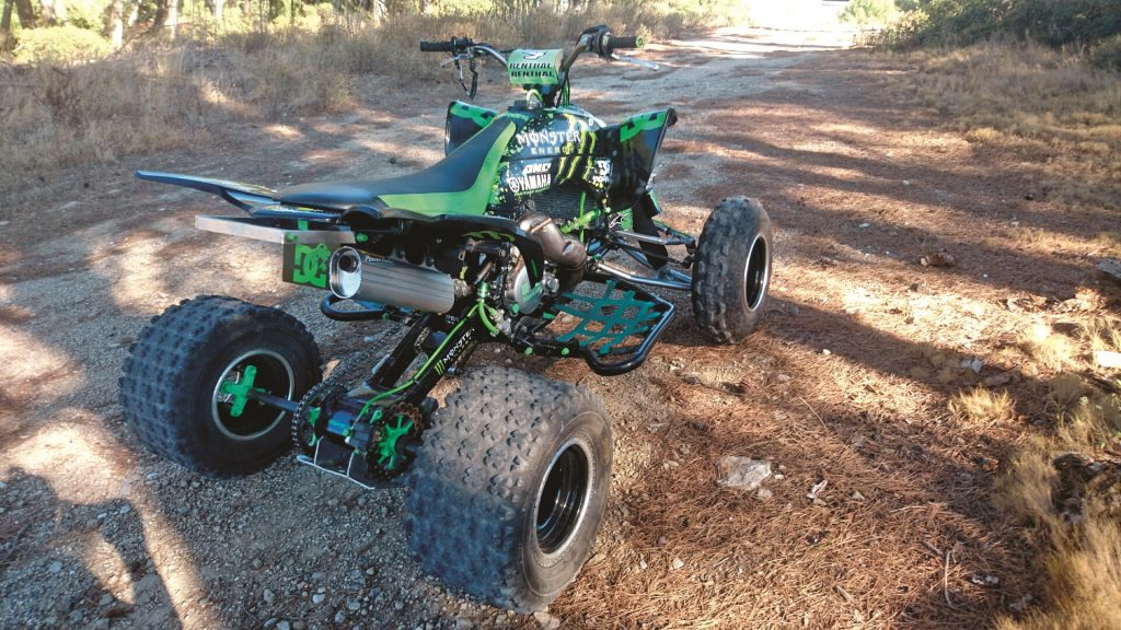 A rear view of this machine is what most riders see when it's out on the trail. If you have an interesting project machine like this, e-mail photos and info on it to us at dwletters@hi-torque. com.