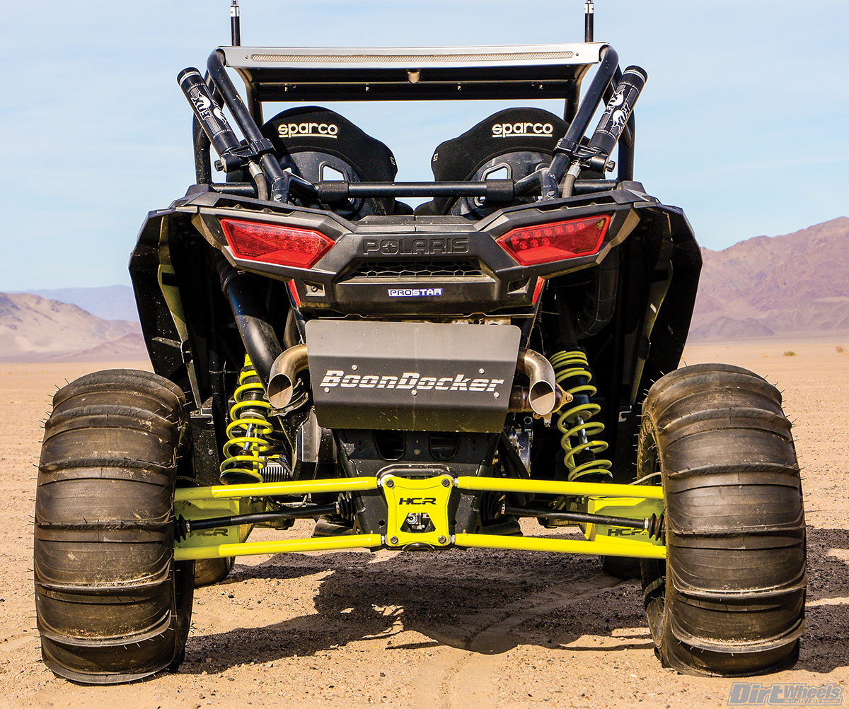 We would say business in the front and party in the back, but it's a mix of the two. The aggressive stance and the STU paddles make for a killer-looking rear end!