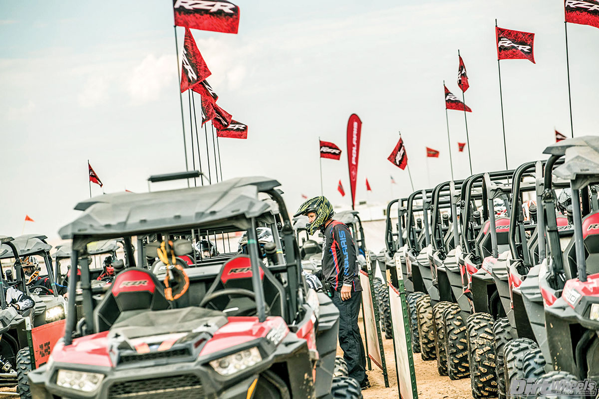 Anyone could sign up to spin some laps on a brand-new RZR.