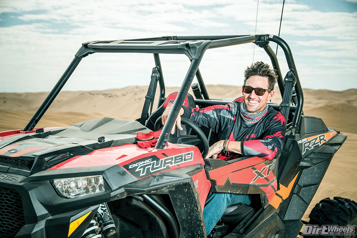 Country star Jake Owen returned as the concert headliner for Saturday night, but when he wasn't prepping or performing, he was shredding dunes in a new Polaris RZR XP Turbo.
