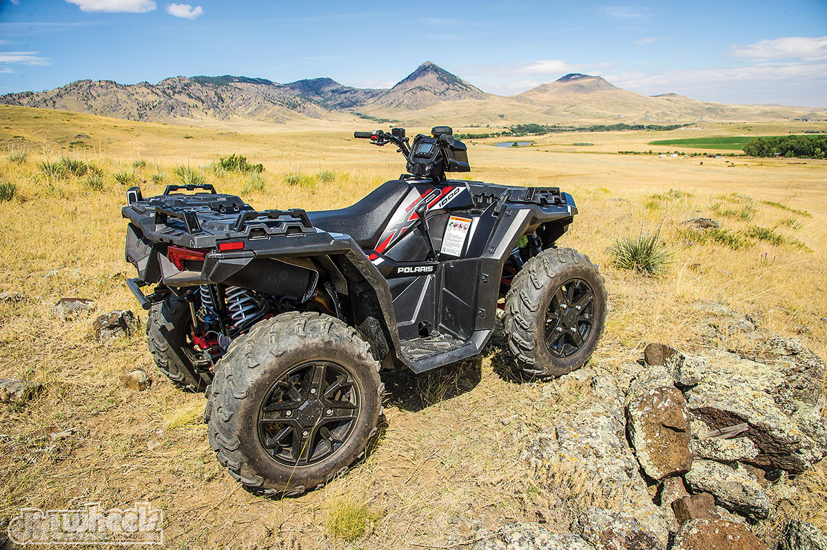 Polaris' new integrated front and rear storage-rack system is awesome! It offers 6 gallons of storage, plenty of room on top to mount your gear and new steel-reinforced tie-down racks for strength.