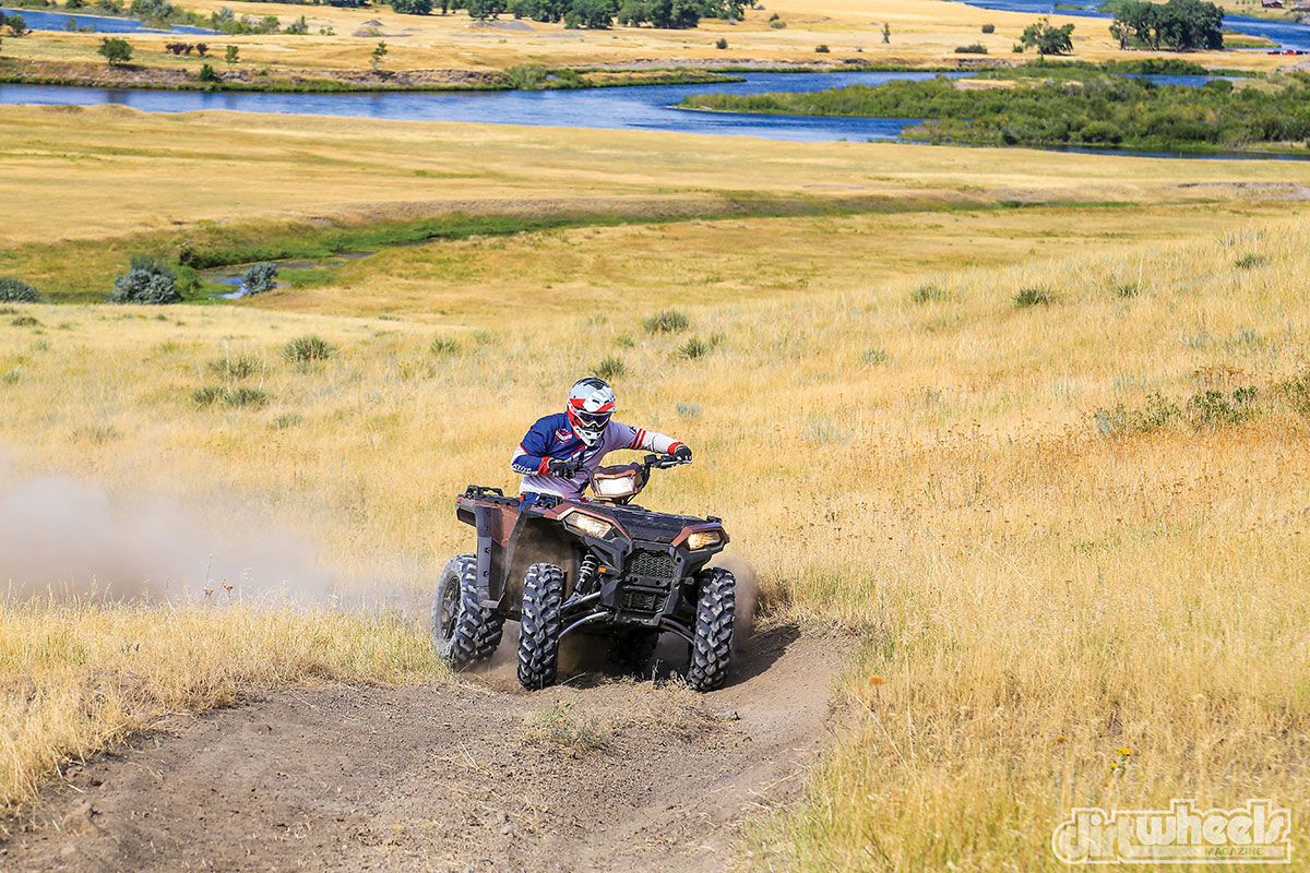 The electronic power steering works so well, you can push it from side to side with your pinkie finger. This makes riding more enjoyable when traversing over rocks or longer rides with your buddies.