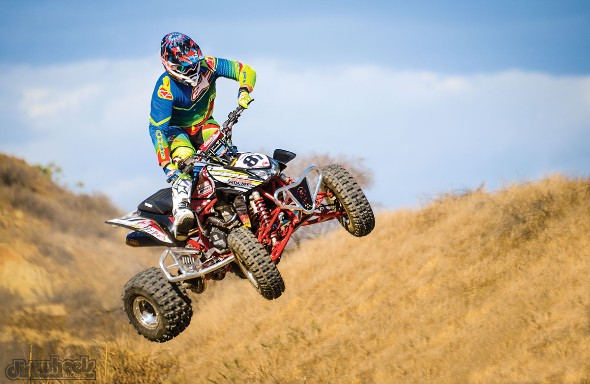 The stock suspension on the TRX worked well. We were able to hit bigger jumps, which the big-bore power on tap and the Flexx handlebar would soak up harder landings.